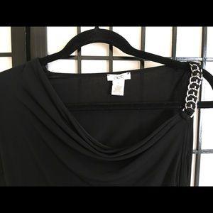 Cache one shoulder black dress. Size 6